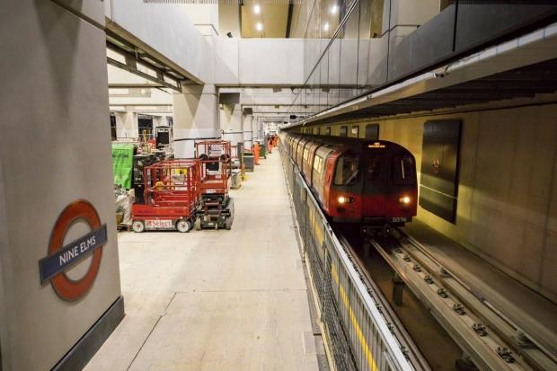 East London and West Essex Guardian Series: Test trains passed through the new stations at Nine Elms and Battersea Power Station. Credit: TfL