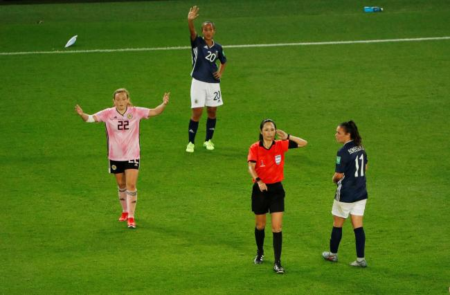 A VAR decision led to Scotland conceding a penalty at the Women's World Cup. Picture: Action Images