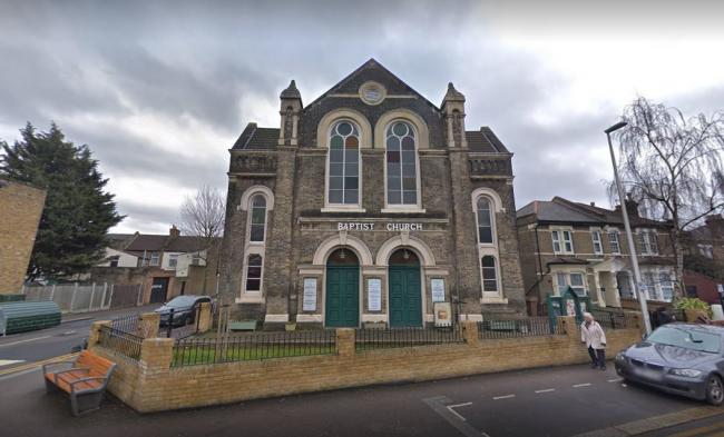 Cann Hall Road Baptist Church in Leytonstone was set on fire, the church secretary said