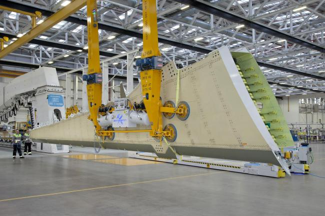 Bombardier has won the MacRobert award for its eco-design wing (Bombardier/PA)