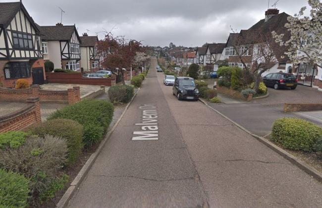 The shooting happened in Malvern Drive, Woodford Green