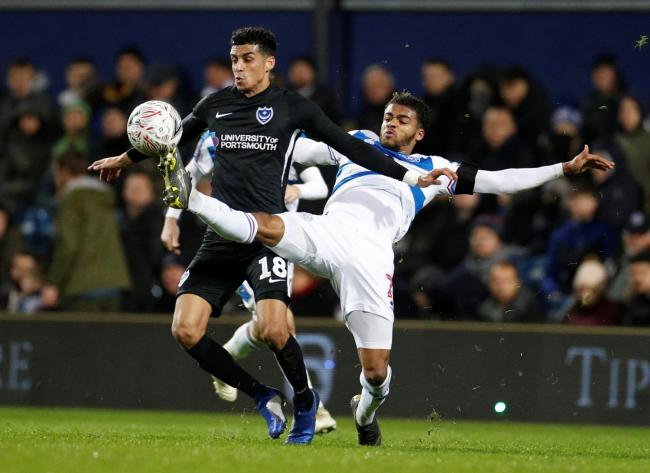 Louis Dennis in FA Cup action for Portsmouth against Queens Park rangers. Picture: Action Images