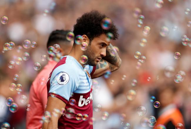 Felipe Anderson during West Ham United's Premier League match against Manchester City. Picture: Action Images