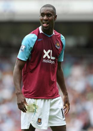 Carlton Cole fired the Hammers in front this afternoon: Action Images