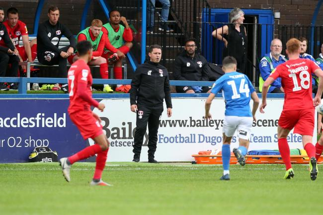 Ross Embleton watches on during Leyton Orient's League Two match against Macclesfield Town. Picture: Simon O'Connor
