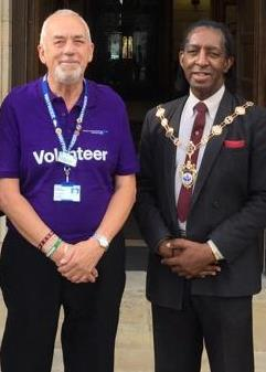Charlie Richardson, 71, and the Mayor of Havering Michael Deon Burton. Photo: UGC