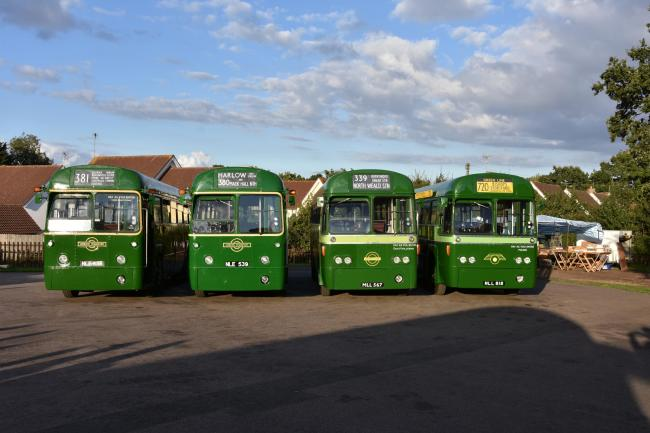 Around 30 RT and RF bus models are expected to parade through the streets of Epping Forest and east London this Sunday