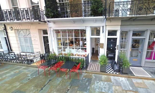The incident happended at the Ottolenghi restaurant in Belgravia, London, in Auguat 2014