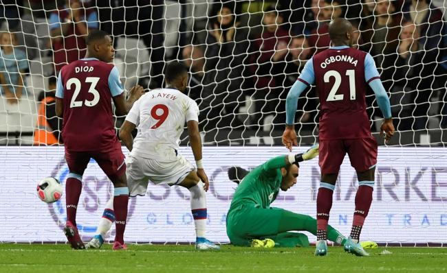 Jordan Ayew sends the Hammers to defeat. Picture: Action Images