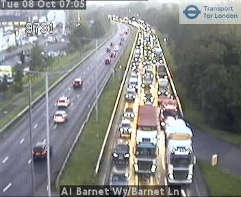 Heavy traffic of A1/Barent Way