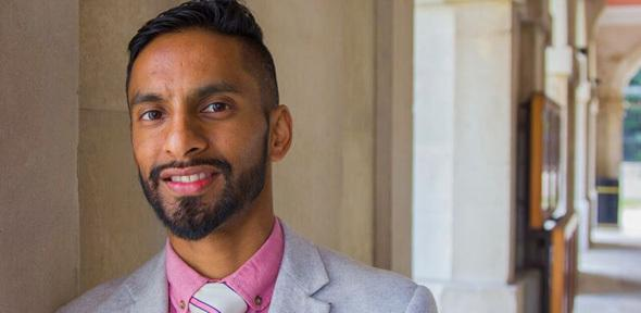 University Challenge star Bobby Seagull has put his weight behind a government campaign to get more people into teaching. Photo: Lloyd Mann, University of Cambridge