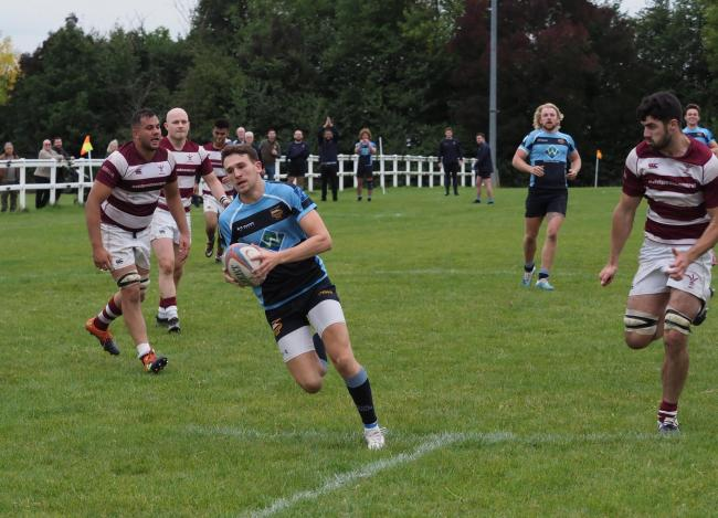 Harry Bone started and finished the scoring for Eton Manor against Ruislip. Picture: Martin Pearl