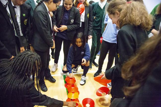 Pupils from 11 different scools took part in workshops, sessions and sporting activites.