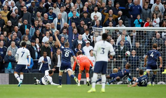 Dele Alli fires in Tottenham's late leveller. Picture: Action Images