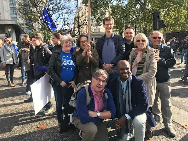 Wanstead residents on the People's Vote march on October 20
