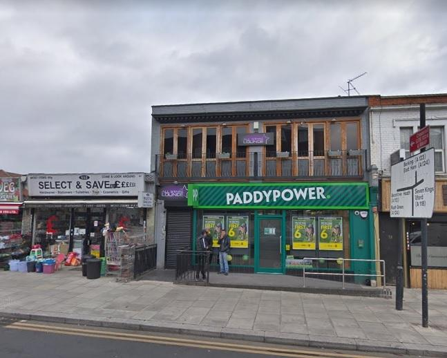All Starz Shisha Lounge, above Paddy Power, on Goodmayes Road. Photo: Google Maps