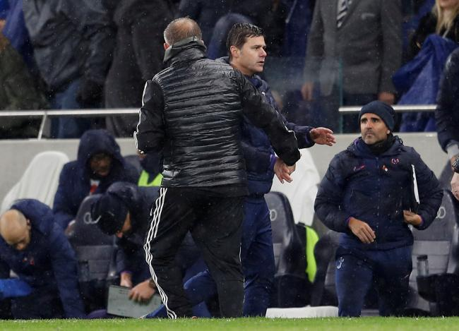 Mauricio Pochettino shakes hands with Chris Wilder at full-time. Picture: Action Images
