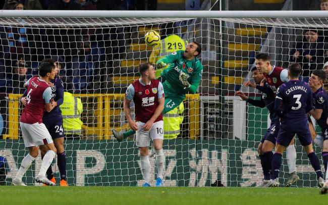 Roberto's awful error saw Burnley score their third goal. Picture: Action Images