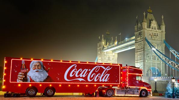 The Coca-Cola truck will stop in Leyton on December 3. Photo: Coca-Cola