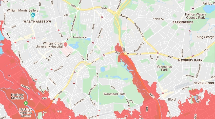 These parts of Redbridge and Waltham Forest could be underneath sea level in 30 years' time - East London and West Essex Guardian Series