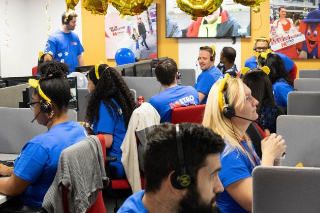 Metro Bank's Ilford call centre colelcted £68,000 for BBC Children in Need.
