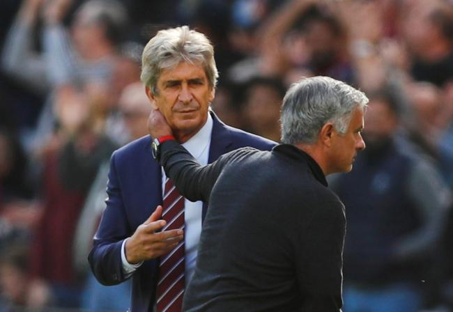 Manuel Pellegrini and Jose Mourinho are set to meet again on Saturday. Picture: Action Images