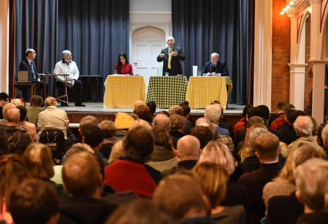 A full house at the Chingford & Woodford Green election hustings at the Woodford Memorial Hall. Photo: Ken Mears