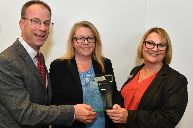 Scrivens Chigwell manager Nichola Ford (centre) with chairman Nicholas Georgevic and regional manager Theresa Richards (right)