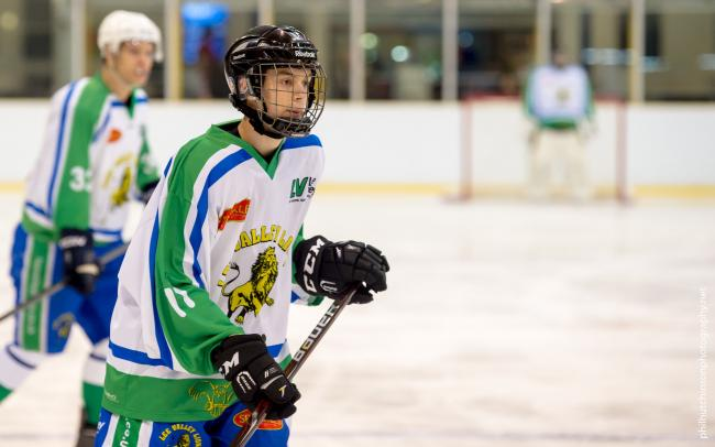 Teenager Charlie Nichols scored his first goal for Lee Valley Lions against Invicta Mustangs. Picture: Phil Hutchinson
