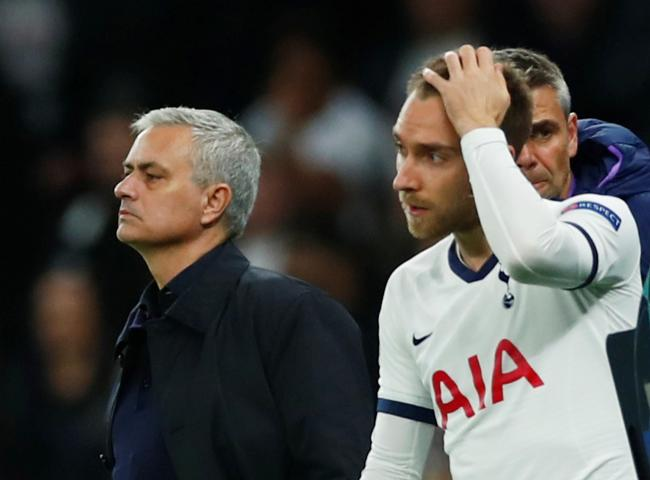 Jose Mourinho refused to be drawn on the future of Christian Eriksen. Picture: Action Images