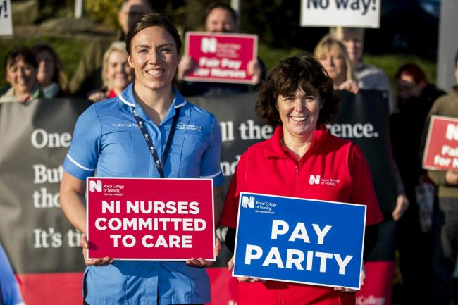 Nurses on strike in Northern Ireland