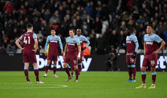The dejected West Ham players. Picture: Action Images