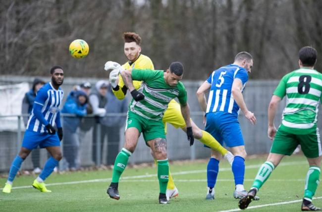 Waltham Abbey completed a comeback against Harlow Town. Picture: Mandy Davies