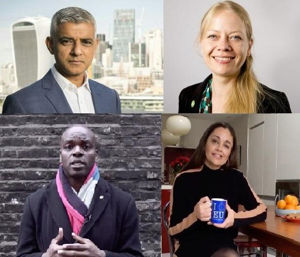 Clockwise from top left: Mayor of London and Labour candidate Sadiq Khan; Green Sian Berry; Liberal Democrat Siobhan Benita; Conservative Shaun Bailey (Photos: London Assembly / Shaun Bailey / Siobhan Benita).
