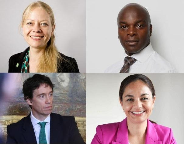 Mayoral candidates from top left: Sian Berry (Green), Shaun Bailey (Conservative), Siobhan Benita (Liberal Democrat) and Rory Stewart (Independent).