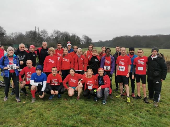 East London Runners at the Ilford AC 10m Cross Country event.