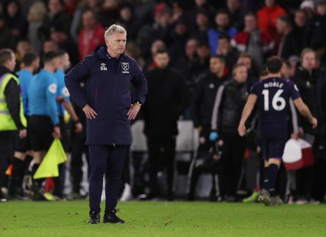 Disbelief: David Moyes. Picture: Action Images