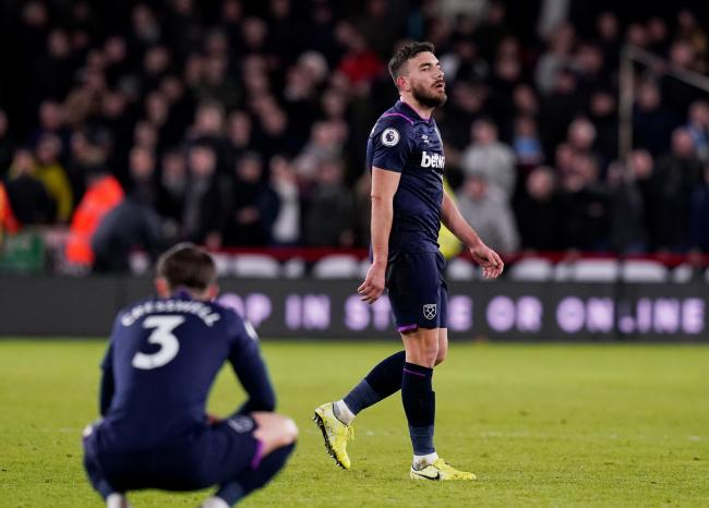 A dejected Robert Snodgrass after his injury-time goal was disallowed. Picture: Action Images