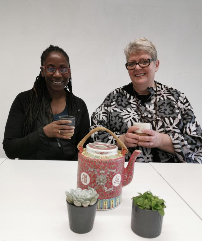 Jackie Grant (left) and Ginette White are delighted to launch Waltham Forest's first Menopause Cafe.