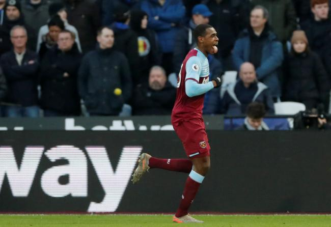 Issa Diop celebrates making the breakthrough. Picture: Action Images