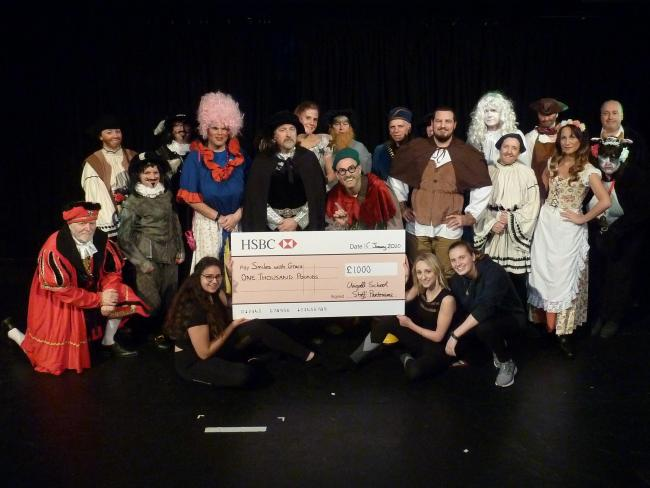 Staff at Chigwell School performed Jack and the Beanstalk to raise money for two charities