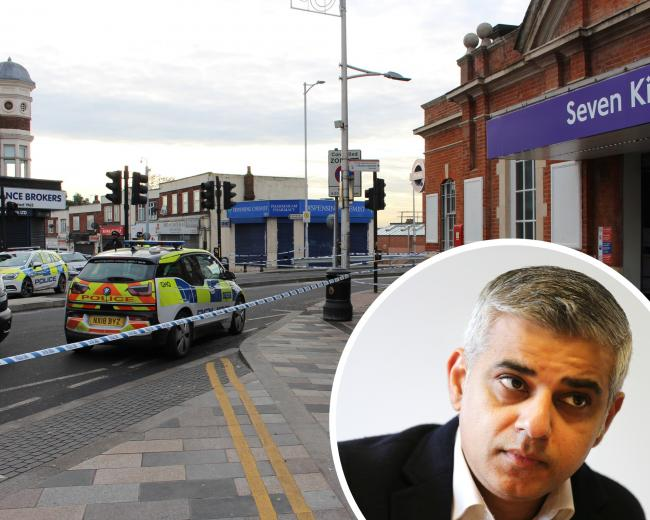 Mayor of London Sadiq Khan called for improved Government funding toi fight crime after three men were fatally stabbed in Seven Kings.