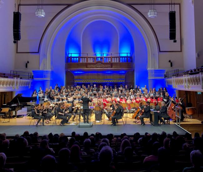 Chigwell School students took centre stage at Cadogan Hall's annual Choral Concert