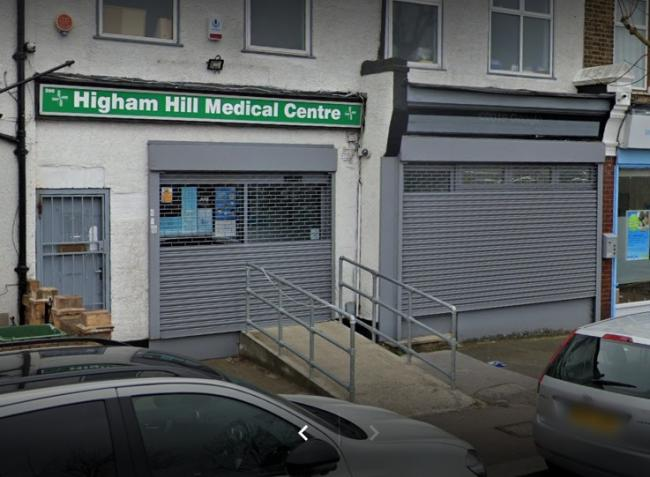 Higham Hill Medical Centre, Walthamstow. Photo: Google Maps