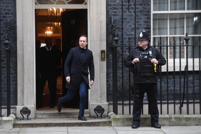 Health and Social Care Secretary Matt Hancock, leaving 10 Downing Street in London today (January 23). Photo: Kirsty O'Connor/PA Wire