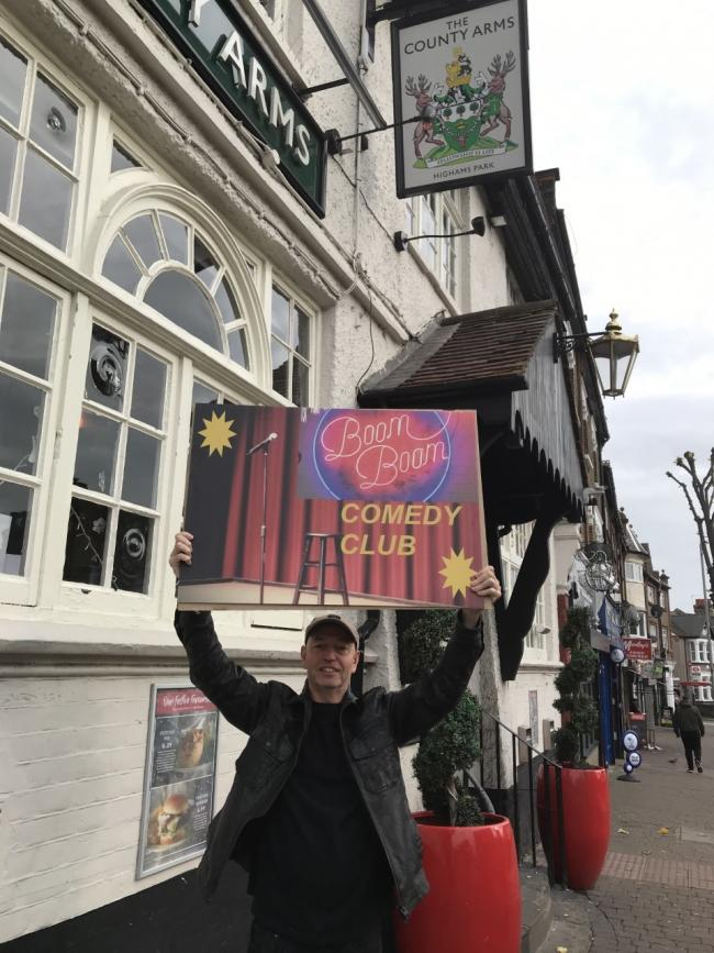 Comedian Geoff Alderman will host the monthly comedy night at The County Arms in Highams Park.