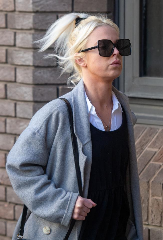 Chloe Haines, 26, from Berkshire, arriving at Chelmsford Crown Court, was given a two-year sentenced for disruptive behaviour onboard a Jet2 plane in June 2019