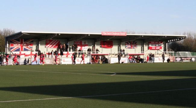 General view of Harlow Town's Jack Chapman stand. Picture: Kelsi O'Connor