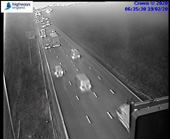 The M25 has been struck by traffic this morning