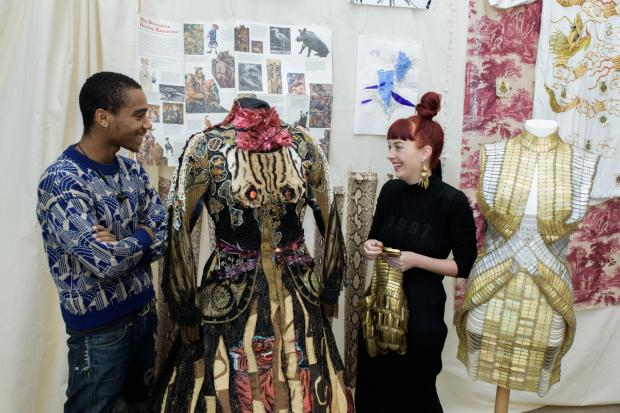 Jane Bowler+Moses Quiquine discuss their work with young people involved in creating Making it Careers in Fashion + Costume © Victoria and Albert Museum, London